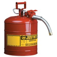 Justrite Type II AccuFlow™ Safety Cans - Type II AccuFlow Safety Cans, Flammables, 5 gal, Red - 400-7250130 - Justrite