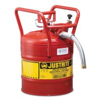 Justrite Type II AccuFlow™ DOT Safety Cans - Type II AccuFlow DOT Safety Cans, Flammables, 5 gal, Red - 400-7350130 - Justrite