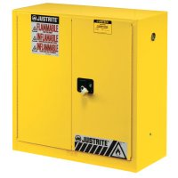 Justrite Yellow Safety Cabinets for Flammables - Yellow Safety Cabinets for Flammables, Manual-Closing Cabinet, 90 Gallon - 400-899000 - Justrite