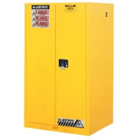 Justrite Yellow Safety Cabinets for Flammables - Yellow Safety Cabinets for Flammables, Manual-Closing Cabinet, 60 Gallon - 400-896000 - Justrite