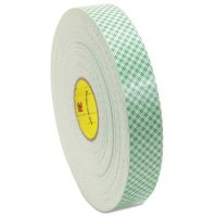 3M™ Abrasive Double Coated Urethane Foam Tapes 4016 - Double Coated Urethane Foam Tapes 4016, 3/4 in X 36 yd, 62 mil, Off-White - 405-021200-06454 - 3M
