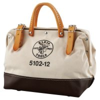 Klein Tools Canvas Tool Bag - Canvas Tool Bag, 1 Compartment, 12 in X 6 in - Klein Tools - 409-5102-12
