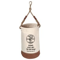 Klein Tools Leather-Bottom Bucket - Leather-Bottom Canvas, 1 Compartment, 17 in X 12 in, w/Swivel Snap - Klein Tools - 409-5104S