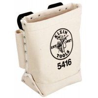 Klein Tools Bull-Pin and Bolt Bags - Bull-Pin and Bolt Bags, 3 Compartments, 10 in X 5 in, Canvas - Klein Tools - 409-5416