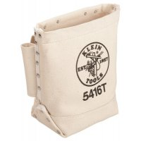Klein Tools Bull-Pin and Bolt Bags - Bull-Pin and Bolt Bags, 3 Compartments, 10 in X 5 in, Canvas - Klein Tools - 409-5416T