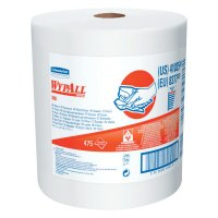 WypAll* X80 Cloths - WypAll X80 Towels, Jumbo Roll, Cotton White, 475 per roll - Kimberly-Clark Professional - 412-41025