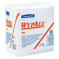 WypAll* X80 Cloths - WypAll X80 Towels, 1/4 Fold, Cotton White - 412-41026 - Kimberly-Clark Professional