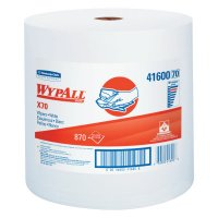 Kimberly-Clark Professional WypAll* X70 Wipes - WypAll X70 Workhorse Rags, Jumbo Roll, White, 870 per roll - 412-41600 - Kimberly-Clark Professional