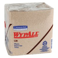 Kimberly-Clark Professional WypAll® L20 Wipers - WypAll L20 Wipers, 1/4 Fold, Brown, 68 per pack - 412-47000 - Kimberly-Clark Professional