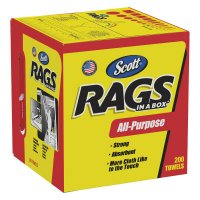 Kimberly-Clark Professional Scott® Rags In-A-Box - Scott Rags In-A-Box, Pop-Up Box, White - 412-75260 - Kimberly-Clark Professional