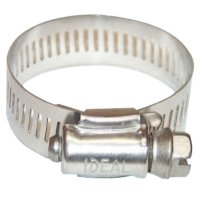 """Ideal® 9/16 Hy-Gear® 64-0 Series Worm Drive Clamps - 64 Series Worm Drive Clamp, 1 1/8"""" Hose ID, 3/4""""-1 3/4"""" Dia, Stnls Steel 201/301 - Ideal® - 420-6420"""