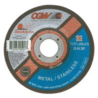 CGW Abrasives Quickie Cut™ Extra Thin Cut-Off Wheels, Type 27 - Cut-Off Wheel, Type 27, 4 1/2 in Dia, .045 in Thick, 60 Grit Zirconia/Alum. - CGW Abrasives - 421-45002