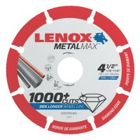 Lenox® MetalMax™ Cut-Off Wheels - MetalMax Cut-Off Wheels, 4 1/2 in, 7/8 in Arbor, Steel/Diamond - 433-1972921 - Stanley® Products