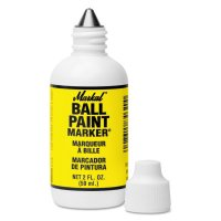Markal® Ball Paint Marker® - Ball Paint Marker Markers, 1/8 in Tip, Metal Ball Point, Yellow - 434-84621 - Markal®