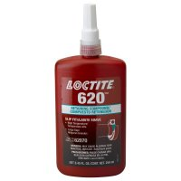 Loctite® 620™ Retaining Compound, High Temperature - 620 Retaining Compound, High Temperature, 250 mL Bottle, Green, 3,800 psi - 442-135515 - Loctite