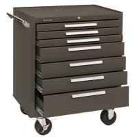 Kennedy Industrial Series Roller Cabinets - Industrial Series Roller Cabinets, 29 x 20 x 35 in, 7 Drawers, Brown - 444-297B - Kennedy