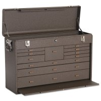 Kennedy Machinists' Chests - Machinists' Chests, 26 3/4 in x 8 1/2 in x 18 in, 3000 cu in, Brown Wrinkle - Kennedy - 444-52611B