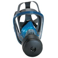 MSA Chin-Type Gas Masks - Chin-Type Gas Mask, Medium, Silicone, Particles, Vapors and Gases - 454-10028998 - MSA
