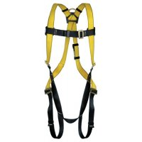 MSA Workman® Harnesses - Workman Harnesses, D-Ring Back, Qwik-Fit Chest Strap;Tongue Buckle Legs, X-Large - 454-10072488 - MSA