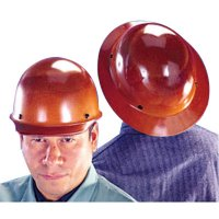 MSA Skullgard® Protective Caps and Hats - Skullgard Protective Caps and Hats, Staz-On, Hat, Lamp Bracket/Cord Holder, Tan - 454-460389 - MSA