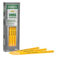 Dixon® Ticonderoga Phano China Markers - Phano China Markers, 1/2 in Tip, Peel-Away Wrapper, Yellow - Dixon® Ticonderoga - 464-00073