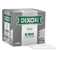 Dixon® Ticonderoga Metal Marking Crayons - Metal Marking Crayons, 4 1/2 in Long x 7/16 in Dia, White - Dixon® Ticonderoga - 464-63300