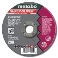 Metabo Super Splicer Extreme Performance Cutting Wheels - Cutting Wheel, 6 in Dia, .045 in Thick, 7/8 in Arbor, 60 Grit Alum. Oxide - 469-55995 - Metabo