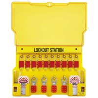Master Lock Safety Series™ Lockout Stations with Key Registration Cards - Safety Series Lockout Stations with Key Registration Card, 22in, Anod. Alum 1-Lk - Master Lock - 470-1483BP1106
