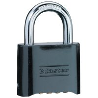 No. 178 Solid Brass Combination Padlocks, 5/16 in Diam., 1 in L X 1 in W, Brass - 470-178BLK - Master Lock