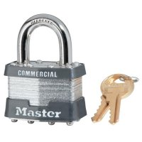 Master Lock Laminated Padlocks Keyed Alike Key Code 0303 - Laminated Padlocks Keyed Alike Key Code 0303, 5/16 in Dia.,3/4 in W, Silver - Master Lock - 470-1KA-0303