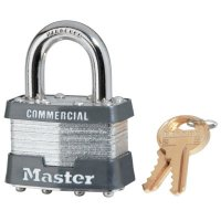 Master Lock Laminated Padlocks Keyed Alike Key Code 2001 - Laminated Padlocks Keyed Alike Key Code 2001, 5/16 in Diam., 3/4 in W, Silver - Master Lock - 470-1KA-2001