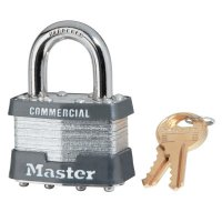 Master Lock Laminated Padlocks Alike Key Code 3357 - Laminated Padlocks Alike Key Code 3357,  5/16 in Diam., 3/4 in W, Chrome/Gray - Master Lock - 470-1KA-3357