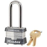 "Master Lock No. 3 Laminated Steel Pin Tumbler Padlocks - No. 3 Laminated Steel Pin Tumbler Padlocks,9/32"" Dia, 2"" L X 5/8"" W, Silver/Blue - 470-3DLHCOM - Master Lock"