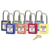 Master Lock No. 410 & 411 Lightweight Xenoy Safety Lockout Padlocks - No. 410 & 411 Lightweight Xenoy Safety Lockout Padlocks, Purple, Keyed Diff. - Master Lock - 470-410PRP