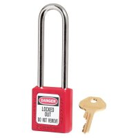 Master Lock Red Zenex™ Safety Padlocks - Red Zenex Safety Padlocks, 25/32 in, 3 in, 1/4 in, Red - Master Lock - 470-410KALTRED