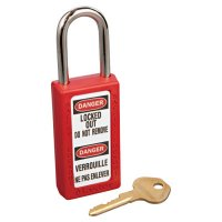 Master Lock No. 410 & 411 Lightweight Xenoy Safety Lockout Padlocks - No. 410 & 411 Lightweight Xenoy Safety Lockout Padlocks, Red, Keyed Diff. - 470-411RED - Master Lock