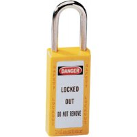 Master Lock No. 410 & 411 Lightweight Xenoy Safety Lockout Padlocks - No. 410 & 411 Lightweight Xenoy Safety Lockout Padlocks, Yellow, Keyed Diff. - Master Lock - 470-411YLW