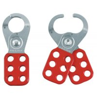 Master Lock Safety Lockout Hasps - Safety Lockout Hasps,  1 in Jaw dia., Red - Master Lock - 470-420