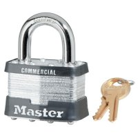 Master Lock Laminated Padlocks Keyed Alike Key Code 0303 - Laminated Padlocks Keyed Alike Key Code 0303, 3/8 in Dia., 3/8 in W, Silver - Master Lock - 470-5KA-0303