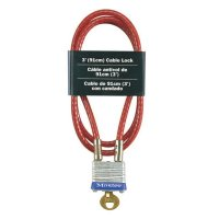 Master Lock No. 719 Cable Locks - No. 719 Cable Locks, 3/16 in Dia., 3 Ft Cable - Master Lock - 470-719