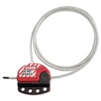 Master Lock Adjustable Cable Lockouts - Adjustable Cable Lockouts, 6 ft, Red - Master Lock - 470-S806