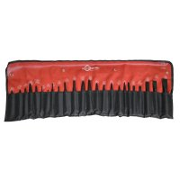 Mayhew™ Tools 24 Pc Punch & Chisel Kits - 24 Piece Punch & Chisel Kits, Pointed; Round, English, Pouch - 479-61050 - Mayhew™