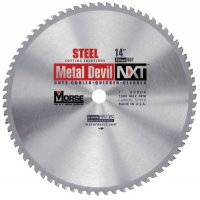 M.K. Morse Metal Devil™ NXT Circular Saw Blades - Metal Devil™ NXT Circular Saw Blades, 14 in, 1 in Arbor, 1,800 rpm, 66 Teeth - M.K. Morse - 497-CSM1466NSC