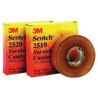 3M™ Electrical Scotch® Varnished Cambric Tapes 2520 - Scotch Varnished Cambric Tapes 2520, 60 ft x 3/4 in, Yellow - 500-048367 - 3M