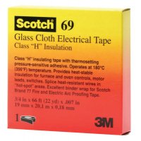 3M™ Electrical Scotch® Glass Cloth Electrical Tapes 69 - Scotch Glass Cloth Electrical Tapes 69, 66 ft x 0.75 in, White - 500-09910 - 3M