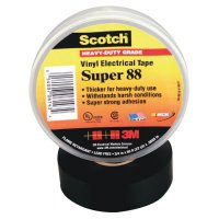 Scotch Super Vinyl Electrical Tapes 88, 44 ft x 1 1/2 in, Black - 500-10364 - 3M