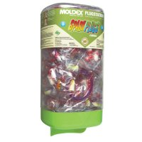 Moldex Plugstation® Dispenser with SparkPlugs® Earplugs - PlugStation Earplug Dispensers, PETE, Clear/Red, Corded - 507-6880 - Moldex