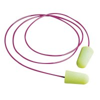 Moldex Pura-Fit® Foam Earplugs - Pura-Fit Foam Earplugs, Foam, Bright Green, Corded - 507-6900 - Moldex