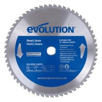 Evolution TCT Metal-Cutting Blades - TCT Metal-Cutting Blades, 12 in, 1 in Arbor, 1,600 rpm, 60 Teeth - Evolution - 510-12BLADEST