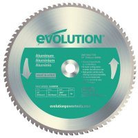 Evolution TCT Metal-Cutting Blades - TCT Metal-Cutting Blades, 14 in, 1 in Arbor, 1,600 rpm, 80 Teeth - Evolution - 510-14BLADE-AL